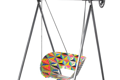 King of the Swingers by Morag Myerscough and Luke Morgan