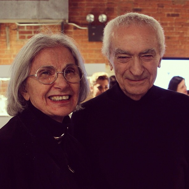 Massimo and Lella Vignelli in 2012