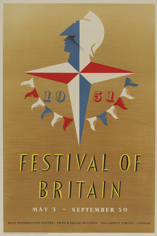 Festival of Britain poster by Abram Games, 1951