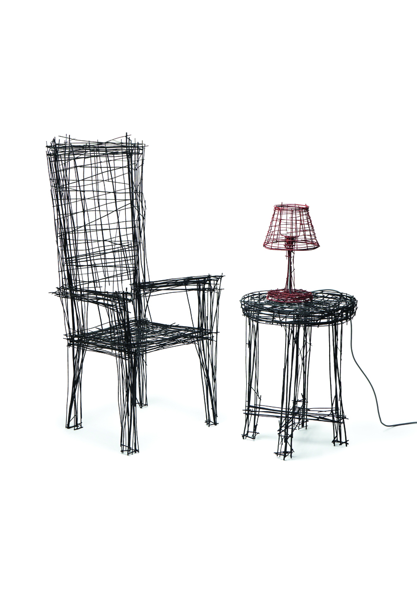 Drawing series by Jinil Park - chair £1480, table £2500, light £740