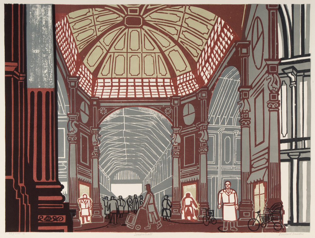 Edward Bawden (1903 – 1989) Leadenhall Market, 1967, lithograph after linocut © The Edward Bawden Estate