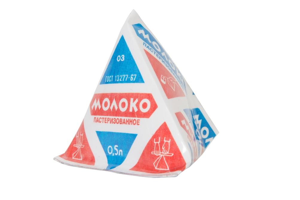 Pyramid Packaging for Dairy Products, (2009 replica), produced from 1959