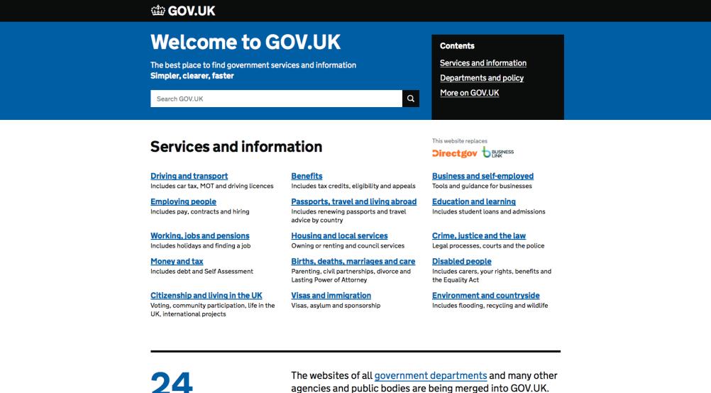 Gov.uk – a recent Government digital success story