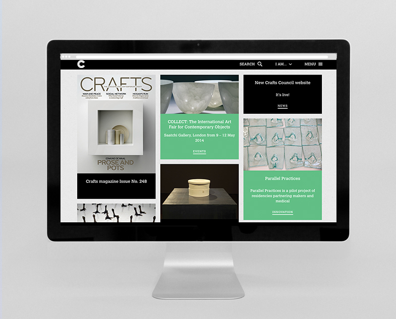 Crafts Council website homepage