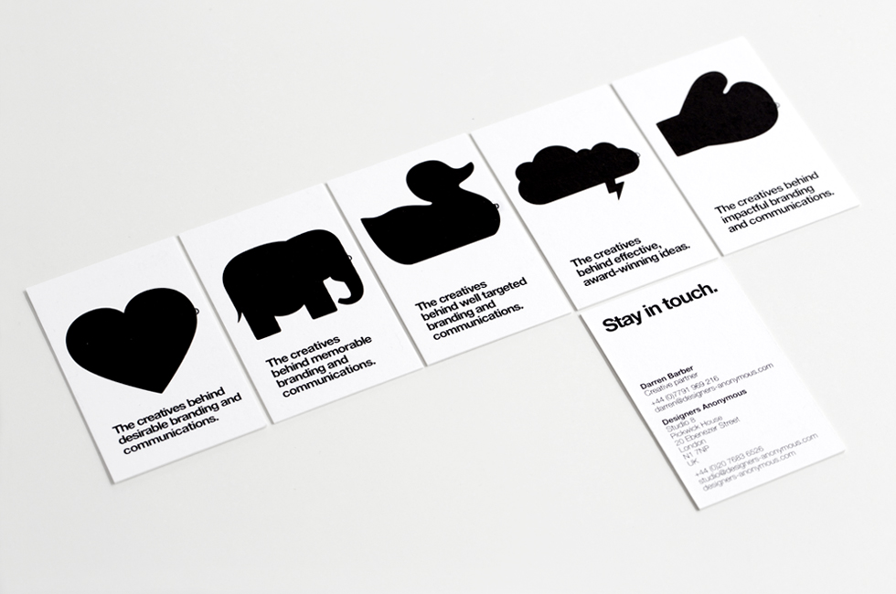 Designers Anonymous business cards