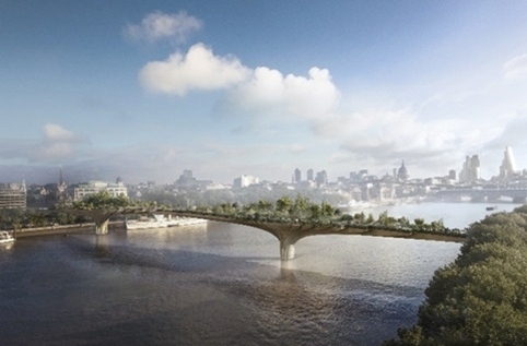 Garden Bridge proposal by Heatherwick Studio