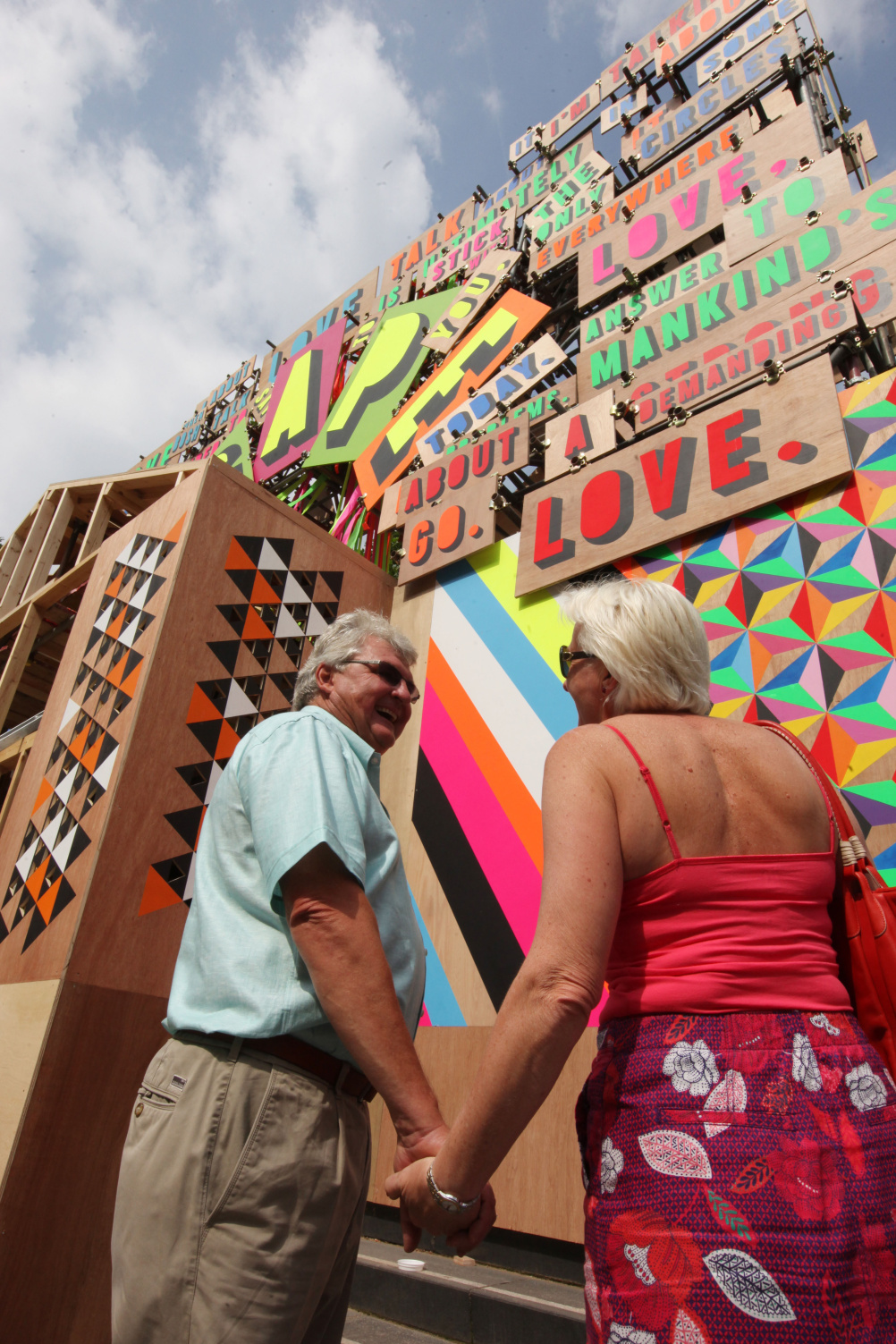 John and Jane Jones at Temple of Agape by Morag Myerscough & Luke Morgan