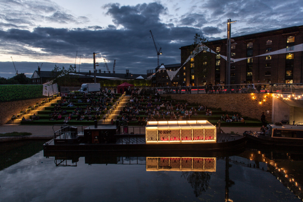 The Floating Cinema at night