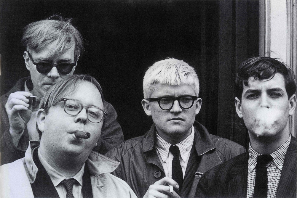 Dennis Hopper Andy Warhol, Henry Geldzahler, David Hockney and Jeff Goodman, 1963 Photograph, 17.25 x 24.74 cm The Hopper Art Trust