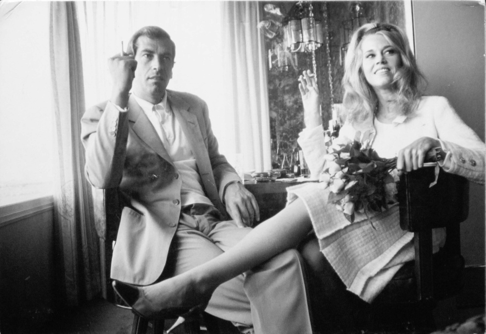 Dennis Hopper Jane Fonda and Roger Vadim at Their Wedding in Las Vegas, 1965 Photograph, 17.02 x 24.87 cm The Hopper Art Trust