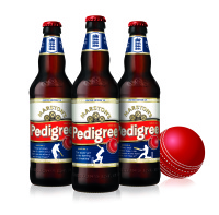 Marstons Pedigree Cricket bottles