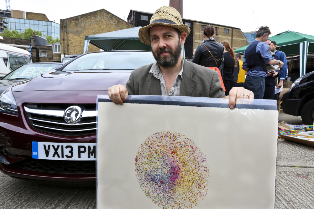 Nick Reynolds at the Vauxhall Art Car Boot Fair 2013