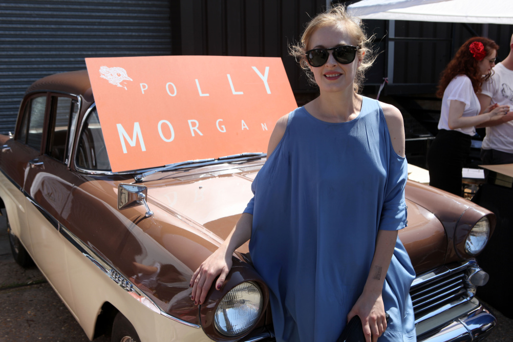 Polly Morgan at the Vauxhall Art Car Boot Fair