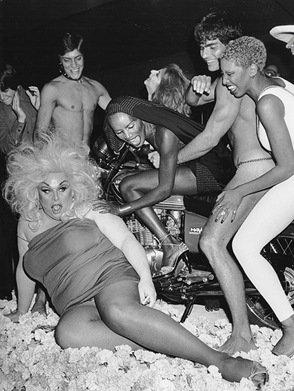 Ron Galella: Divine, Julie Budd, Grace Jones and Nona Hendryx, La Farfalle Disco, 1978
