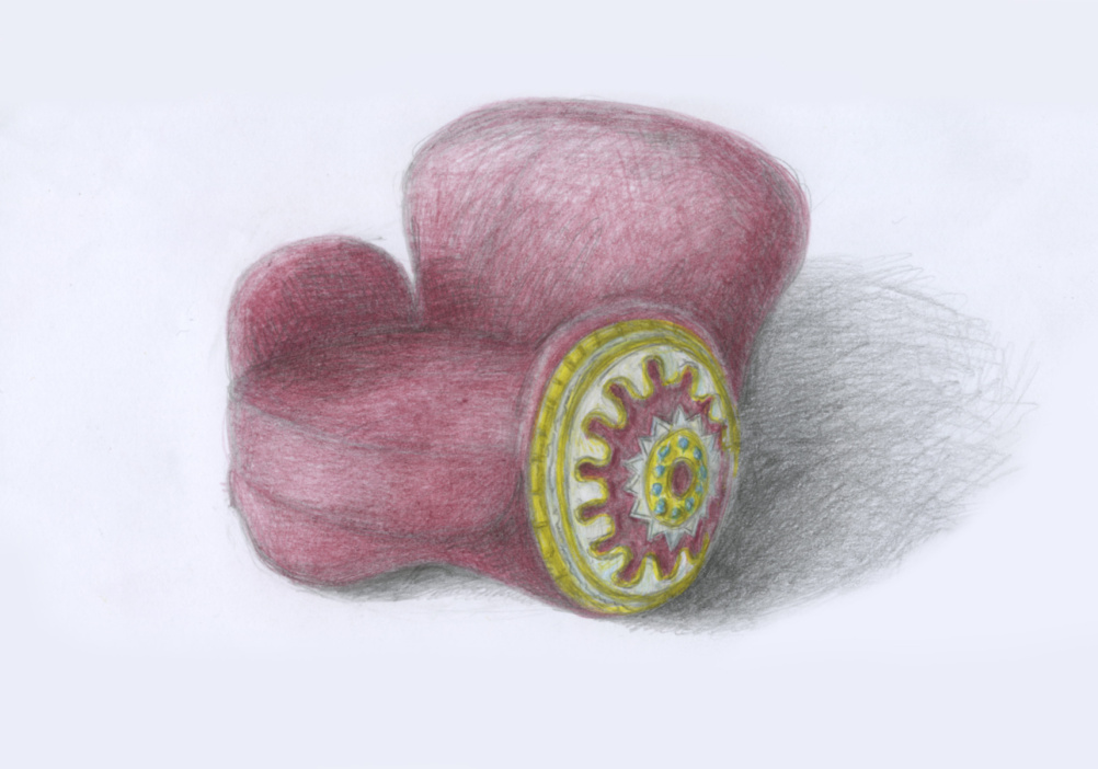 Shield armchair sketch