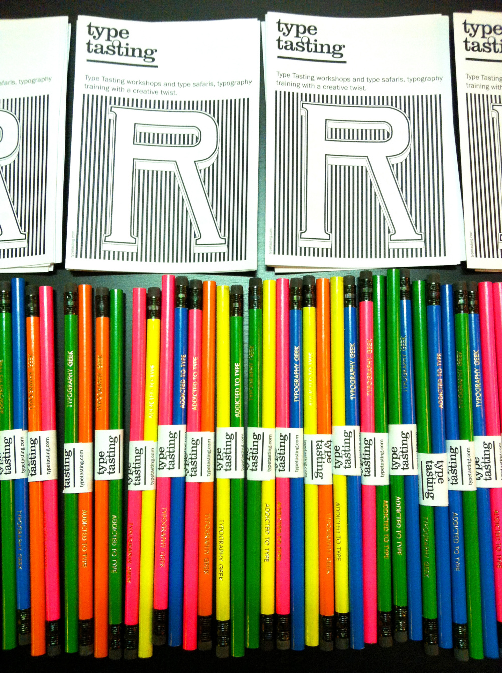 Type Tasting pencils