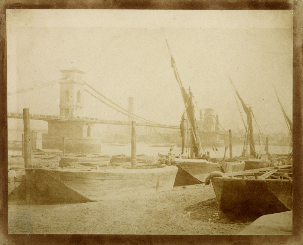 William Henry Fox Talbot - Old Hungerford Bridge c1845