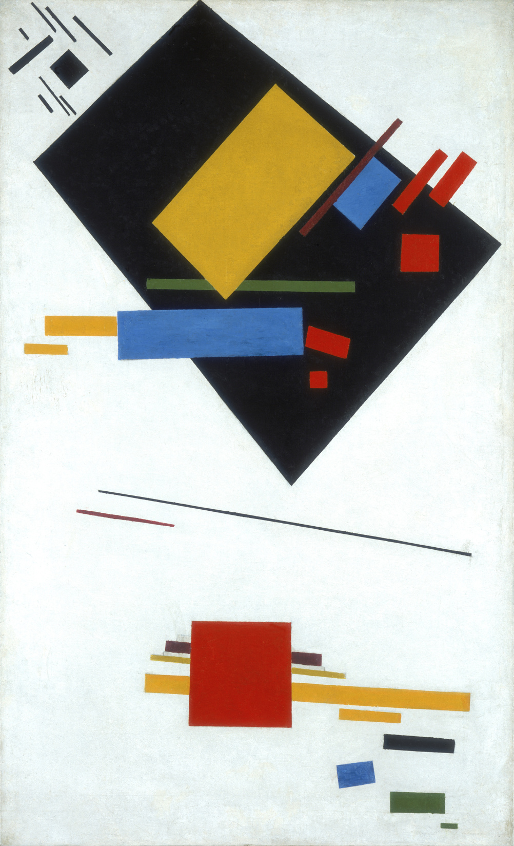 Kazimir Malevich, Suprematist Painting (with Black Trapezium and Red Square) 1915