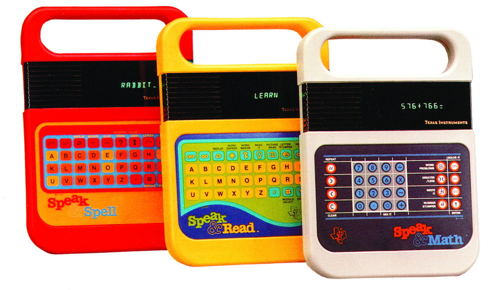 Speak & Spell, 1978  Texas Instruments