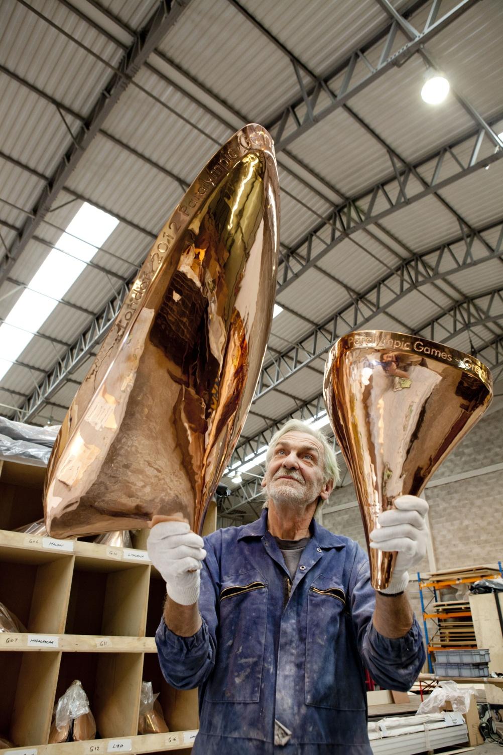 London 2012 Olympic Cauldron designed by Thomas Heatherwick