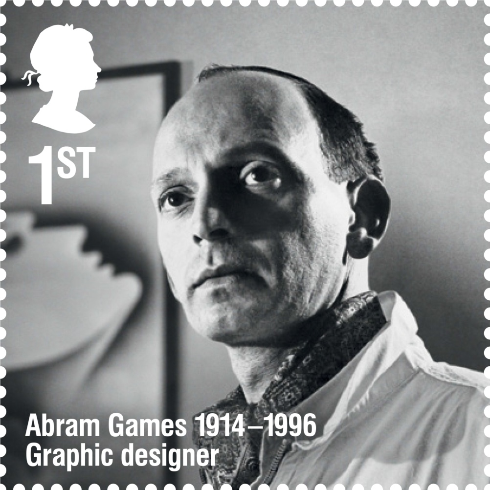Abram Games stamp, designed by Purpose