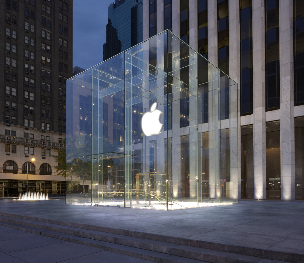 Apple's store on Fifth Aveue, New York