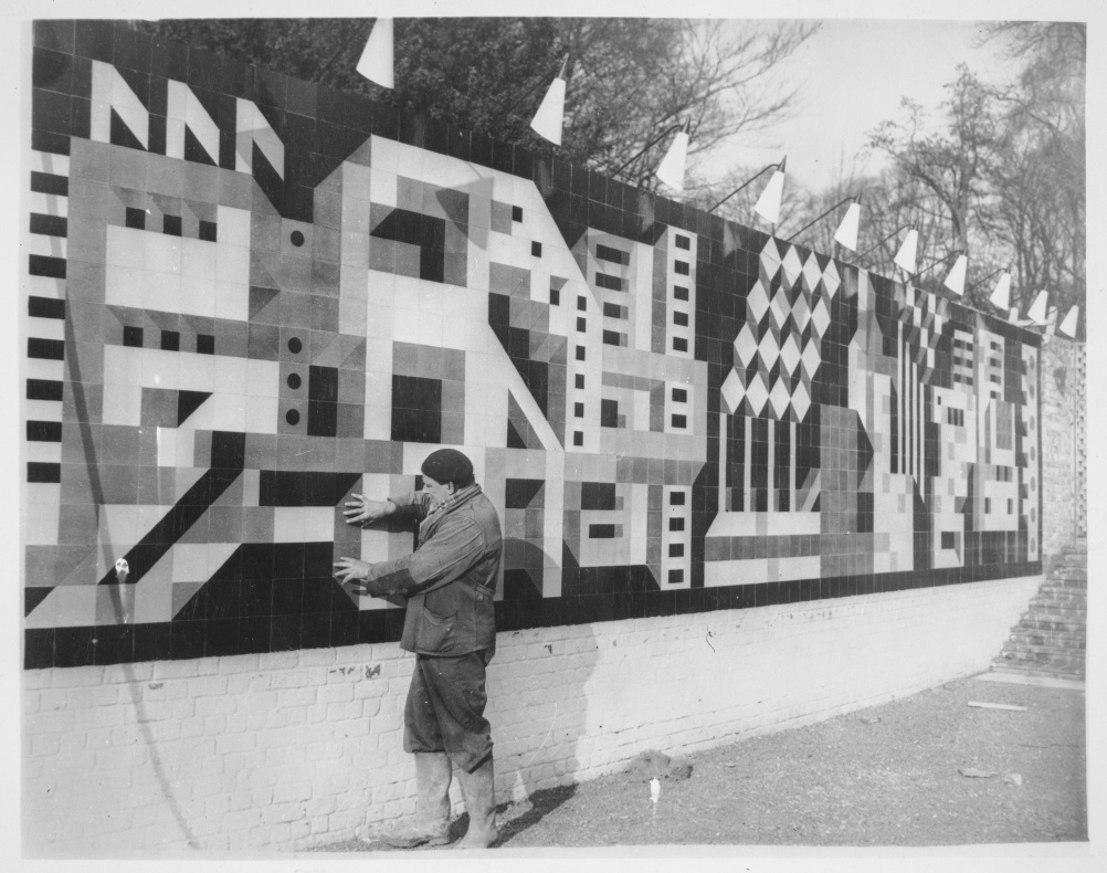 Tile mural for Brussels World Fair, 1958, Peggy Angus