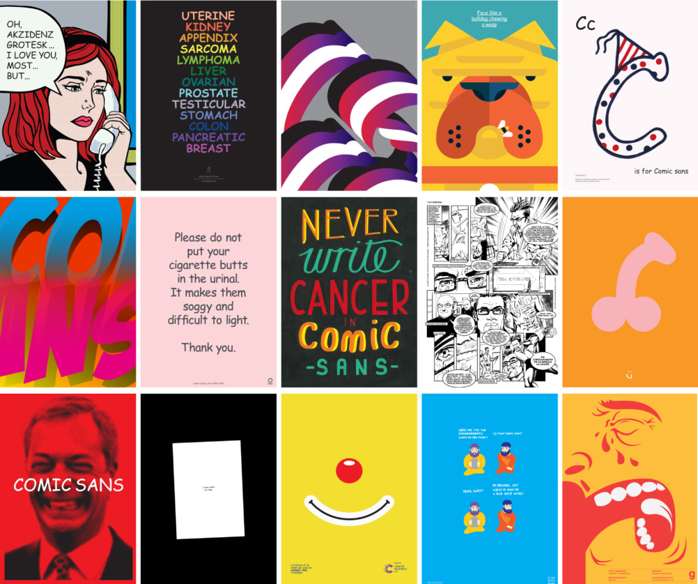 A selection from Comic Sans for Cancer by multiple artists