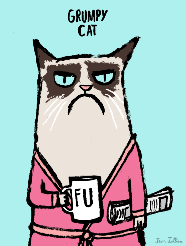 Grumpy Cat by Jean Jullien.