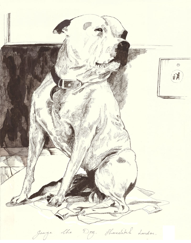 John Dolan, George the Dog, Shoreditch, London
