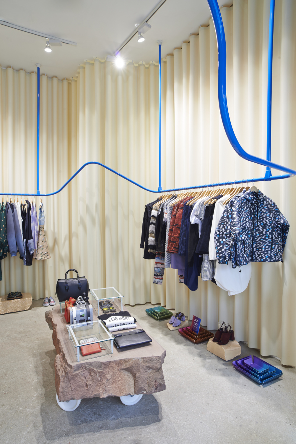 Opening Ceremony pop-up, designed by Max Lamb