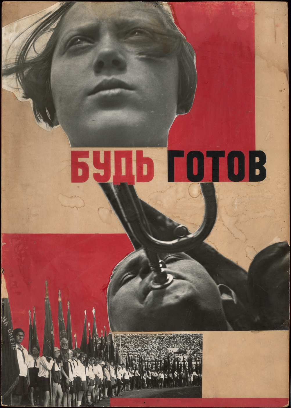 Varvara Stepanova Photomontage 'Beready!' 1932