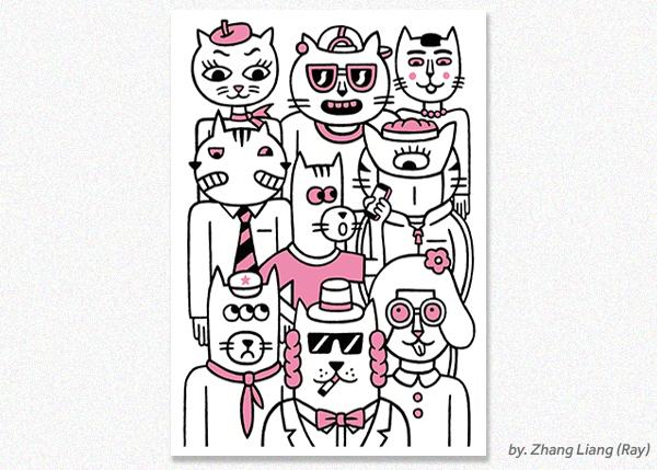 Zhang Liang, Cats.