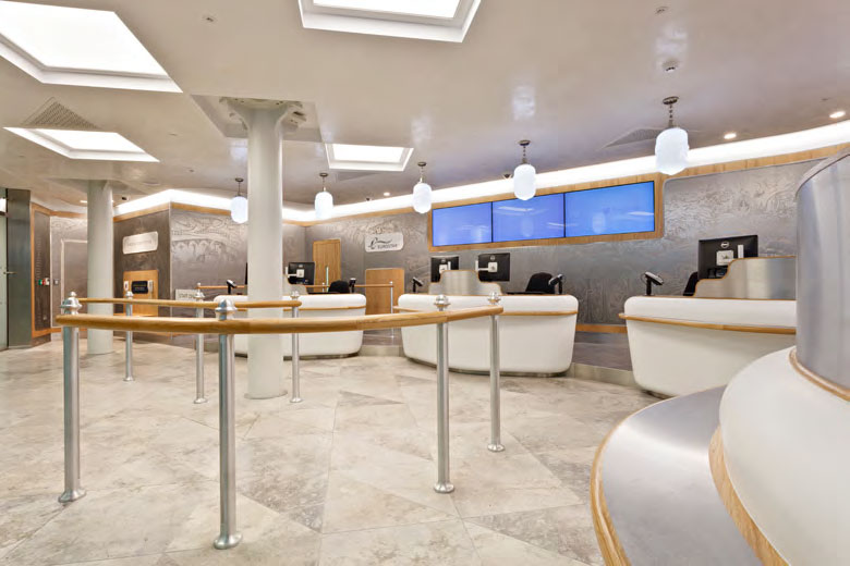 Eurostar Second Class ticket hall by Christopher Jenner