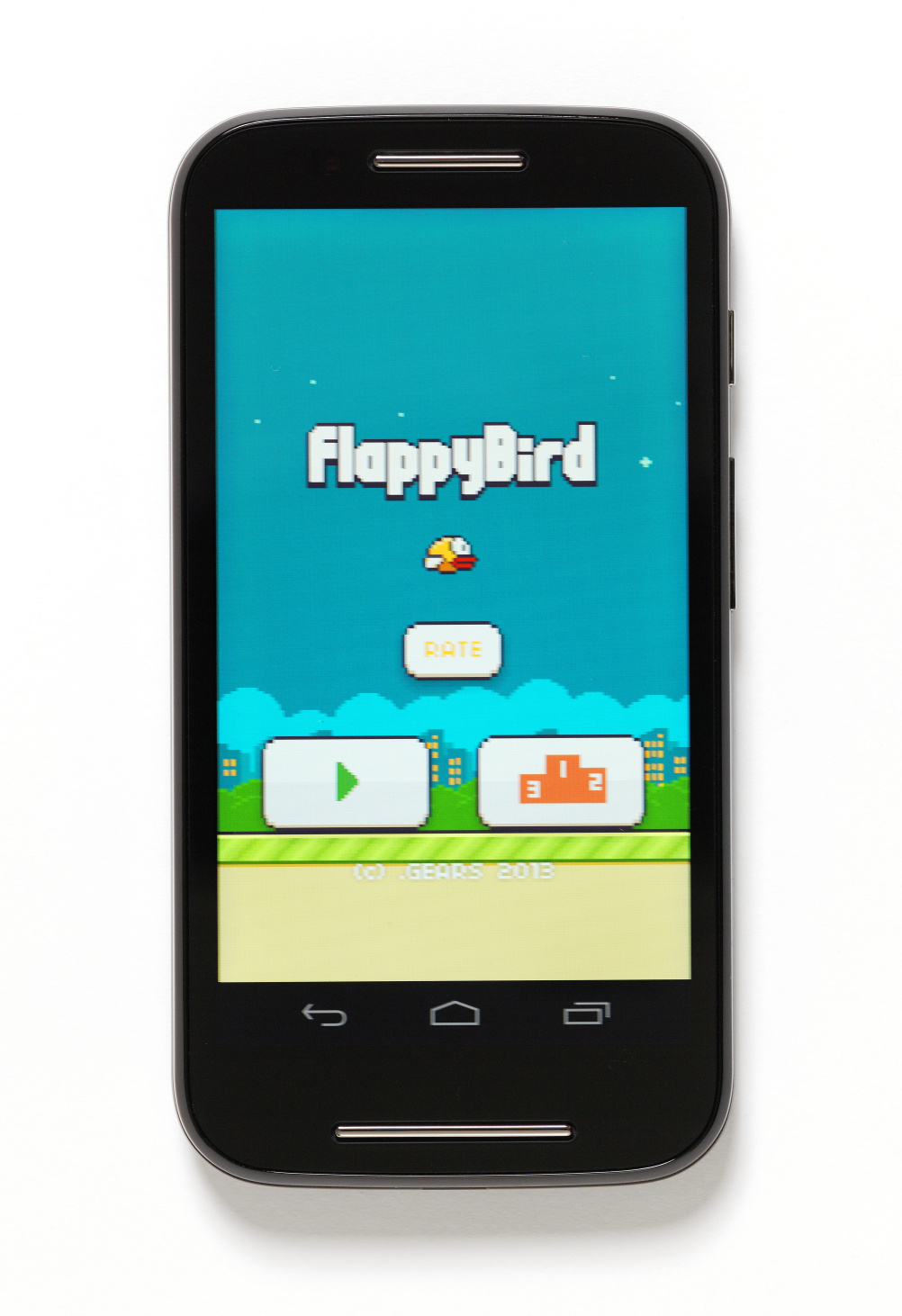 Flappy Bird mobile game, 2013. Designed by Gears Studios