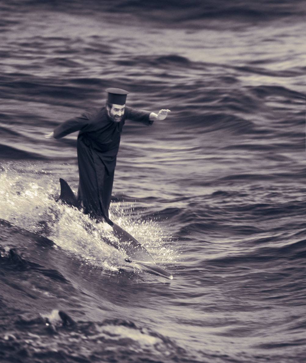 The Miracle of Dolphin-Surfing, Joan Fontcuberta © Joan Fontcuberta  from Karelia, Miracles & Co, 2002