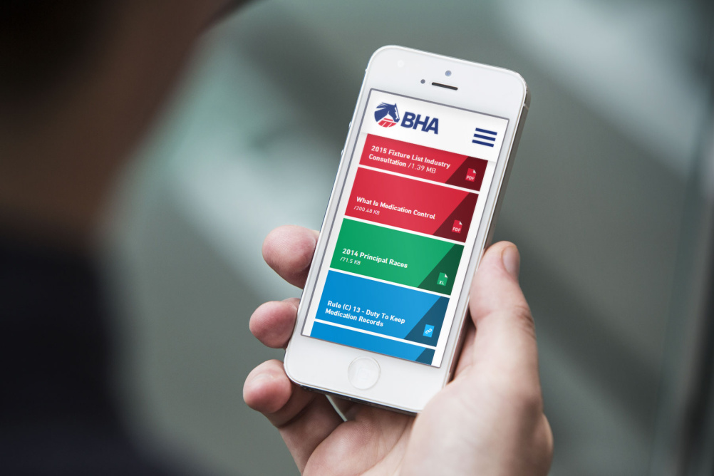 The BHA mobile website