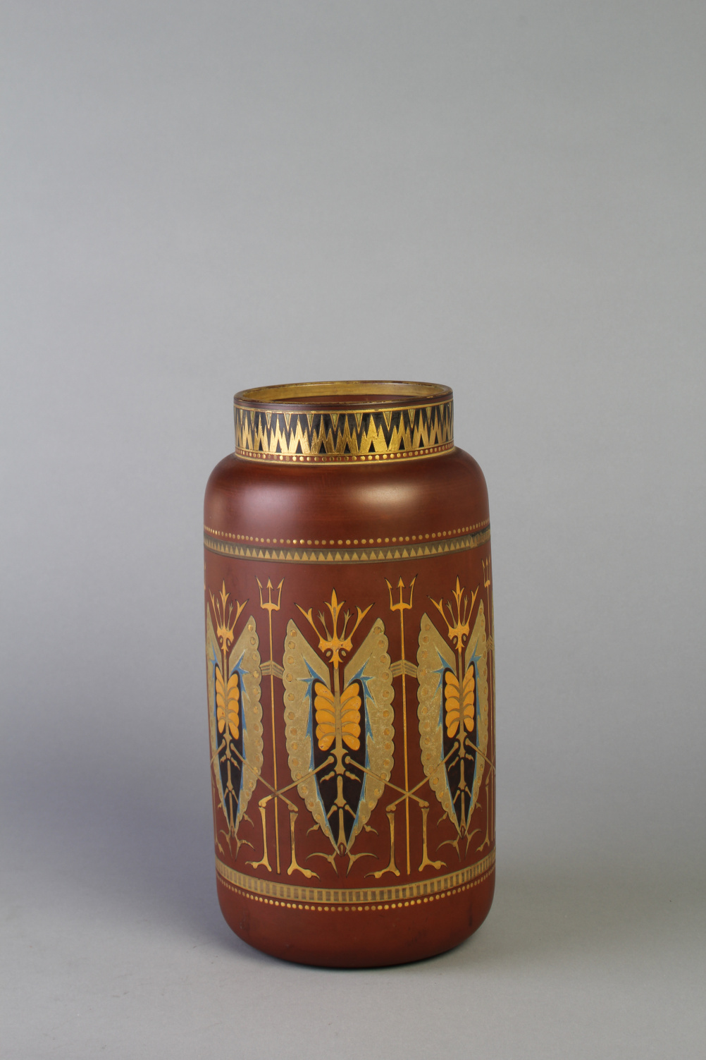 Christopher Dresser (1834-1904) Large ovoid vase, c. 1880 Earthenware