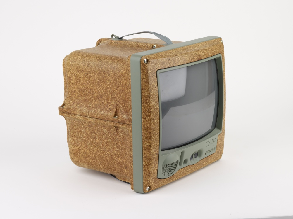 Jim Nature Portable Television, 1994. Designed by Philippe Starck (1949-). Manufactured by Thompson Consumer Electronics for Saba