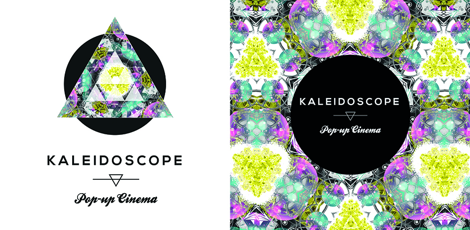 Identity for Kaleidoscope Cinema – a pop-up cinema run by Jewel Hardy