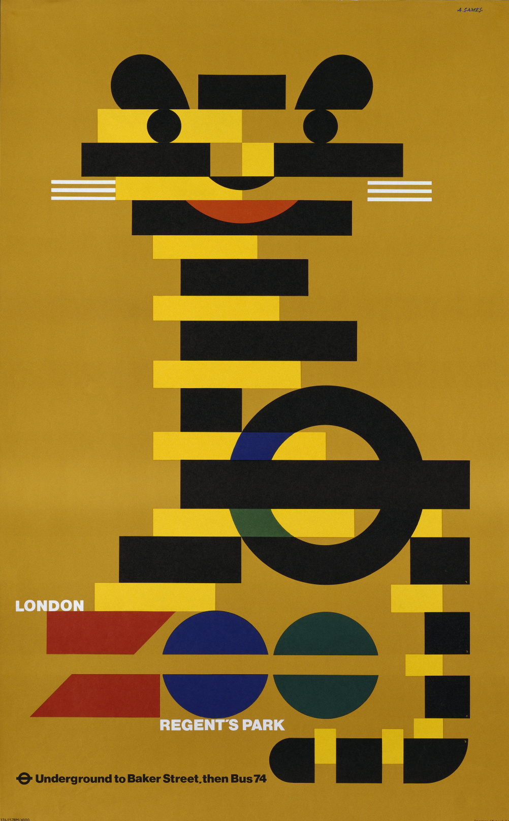 London Transport: London Zoo, 1976 Abram Games