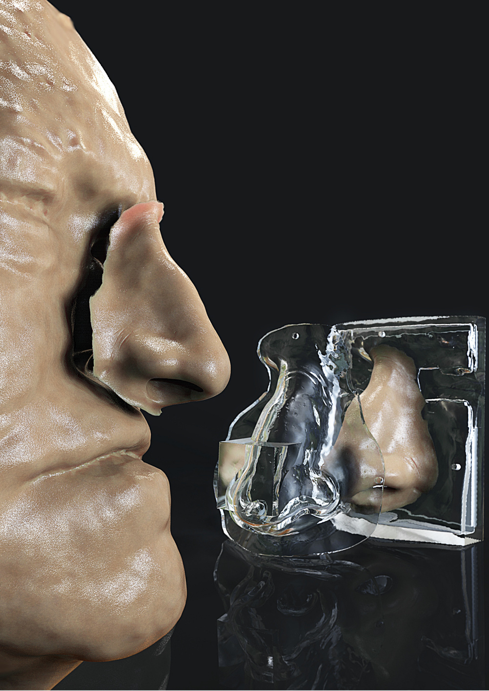 3D printed facial prostheis mould