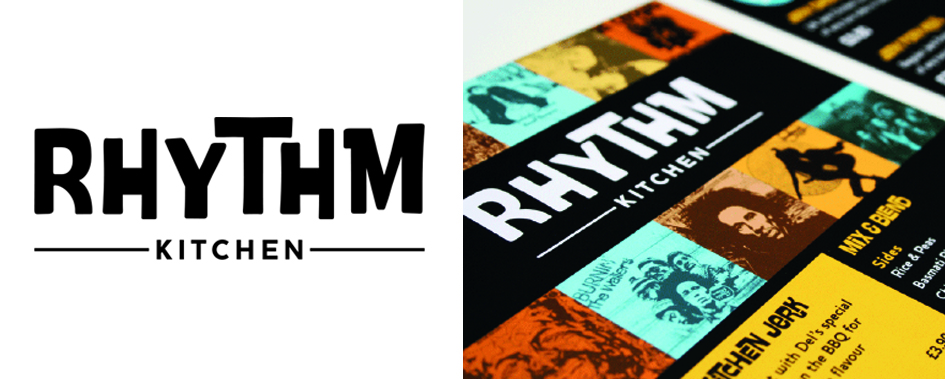 Branding for Rhythm Kitchen, designed at The Yard Creative