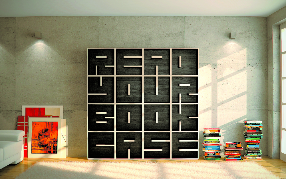 ABC Bookcase. Designers: Eva Alessandrini, Roberto Saporiti. Location: Besnate, Italy