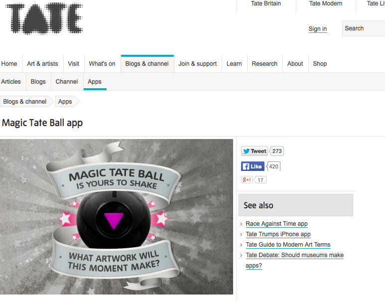 Magic Tate Ball app