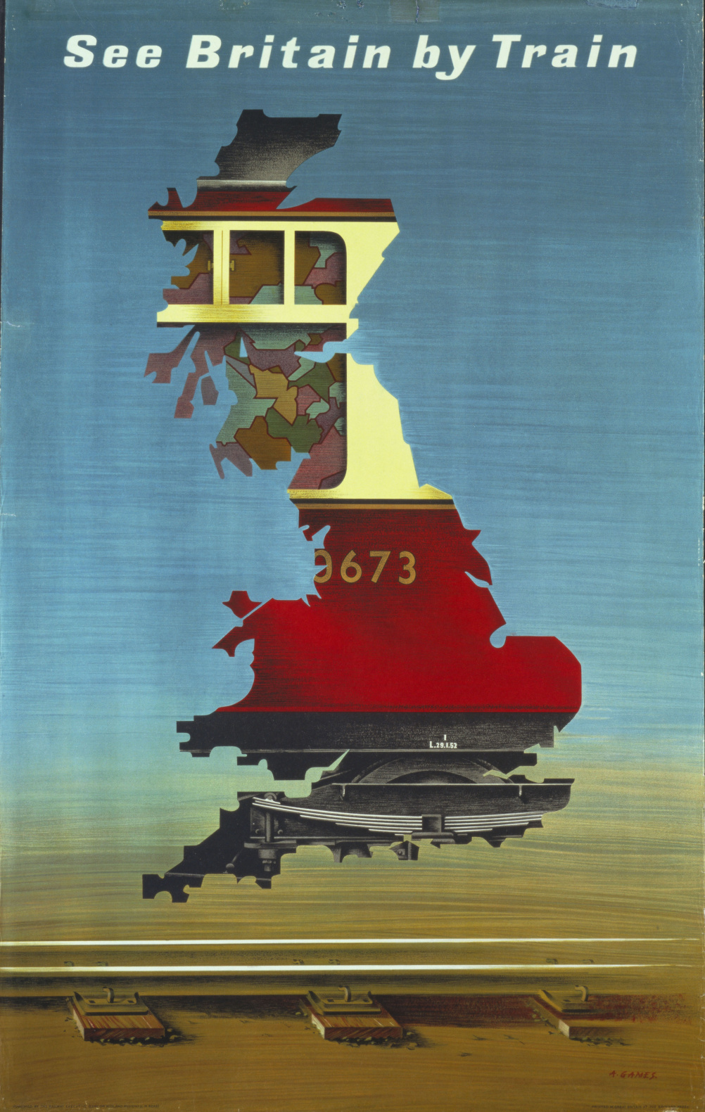 See Britain by Train, 1951 Abram Games