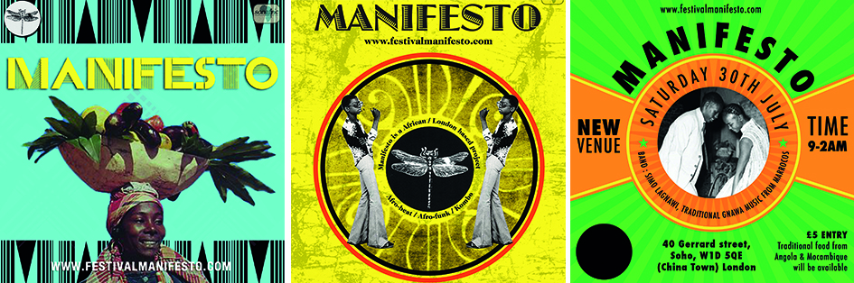 Flyer designs for Manifesto