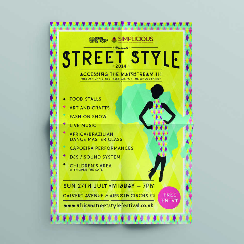 Poster for African Street Festival Street Style