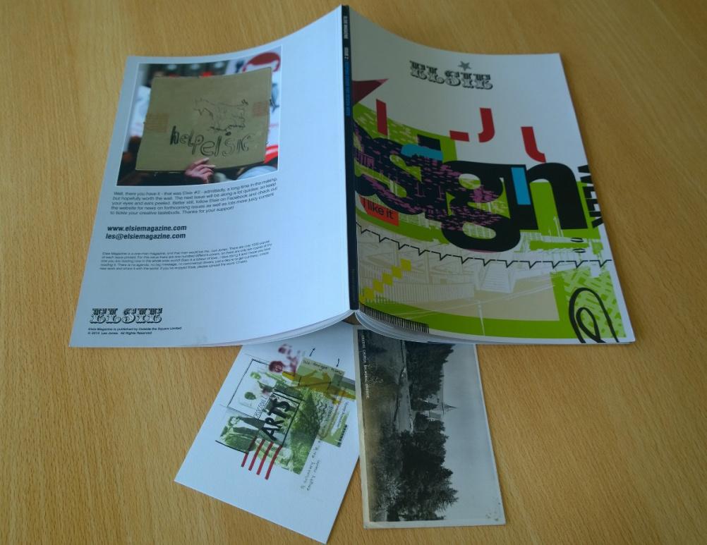 Design Week's copy of Elsie, with postcard goodies