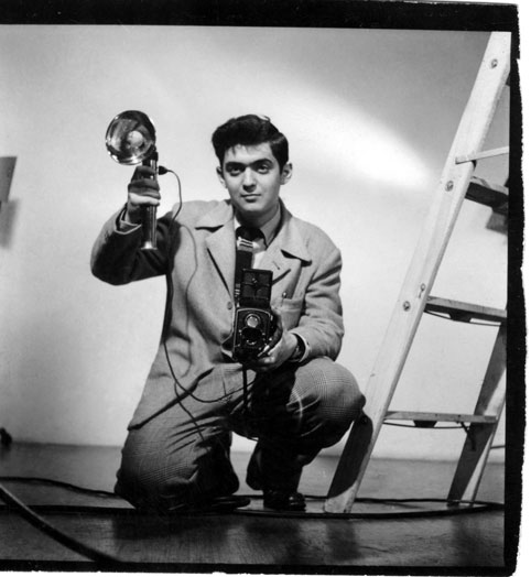The young Stanley Kubrick, before becoming a professional photographer.